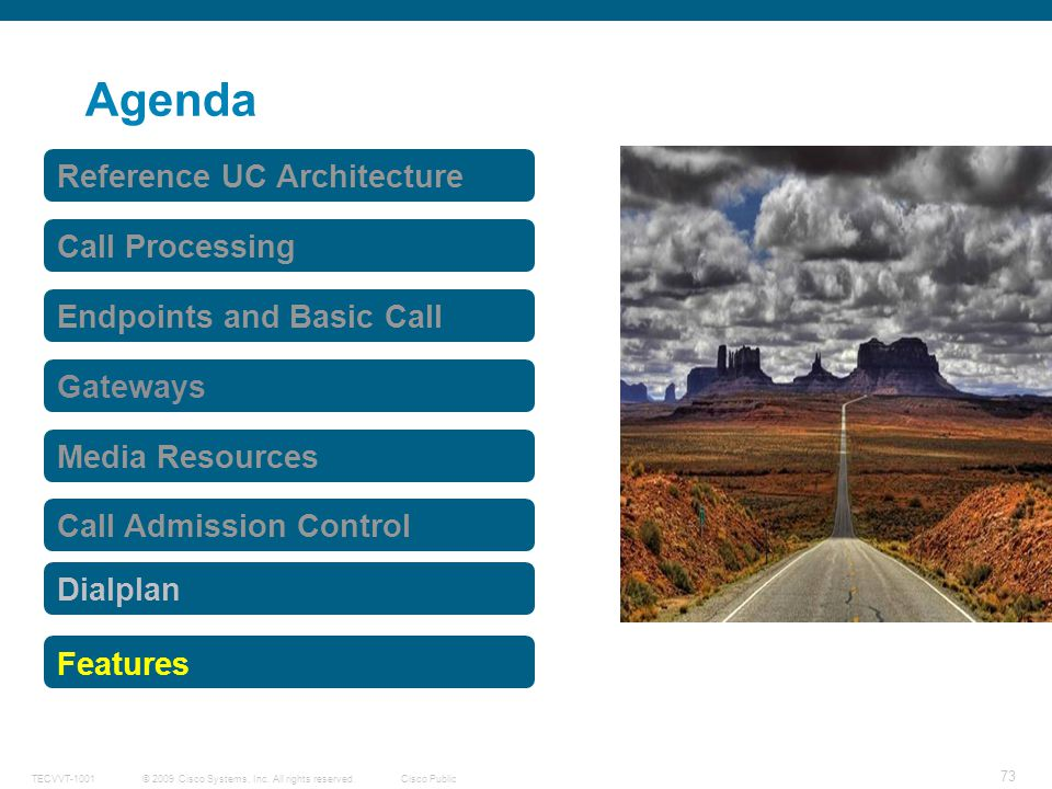 Agenda Reference UC Architecture Call Processing