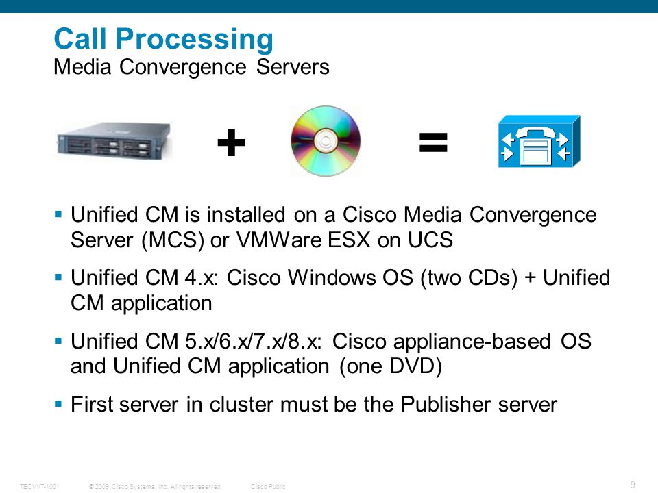Call Processing Media Convergence Servers