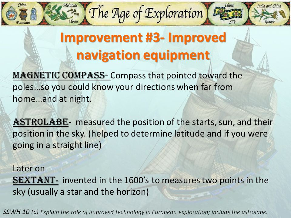 Improvement #3- Improved navigation equipment
