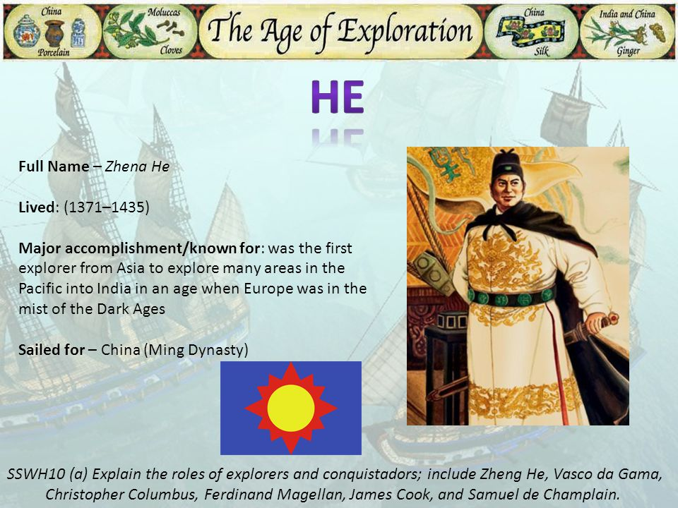 He Full Name – Zhena He Lived: (1371–1435)