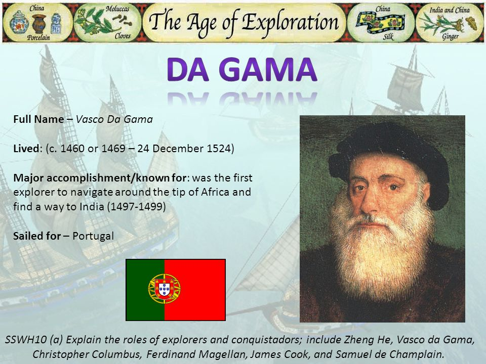 Da Gama Full Name – Vasco Da Gama