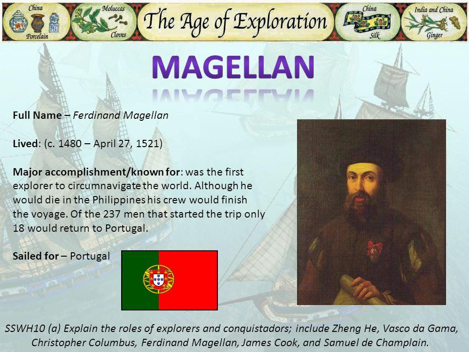 Magellan Full Name – Ferdinand Magellan