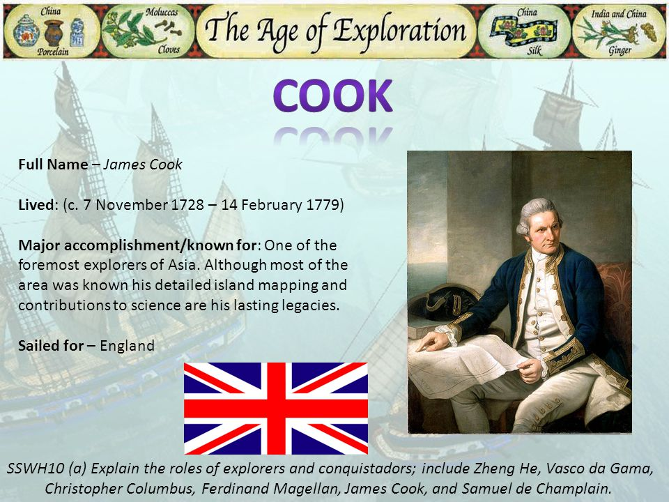 Cook Full Name – James Cook