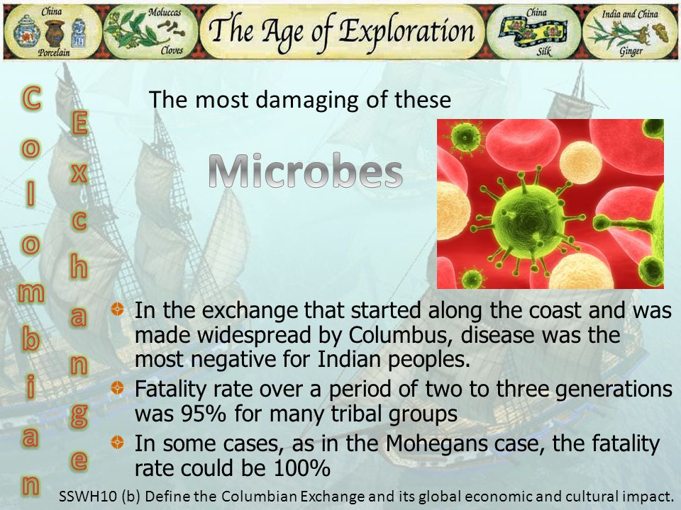 Microbes Colombian Exchange The most damaging of these