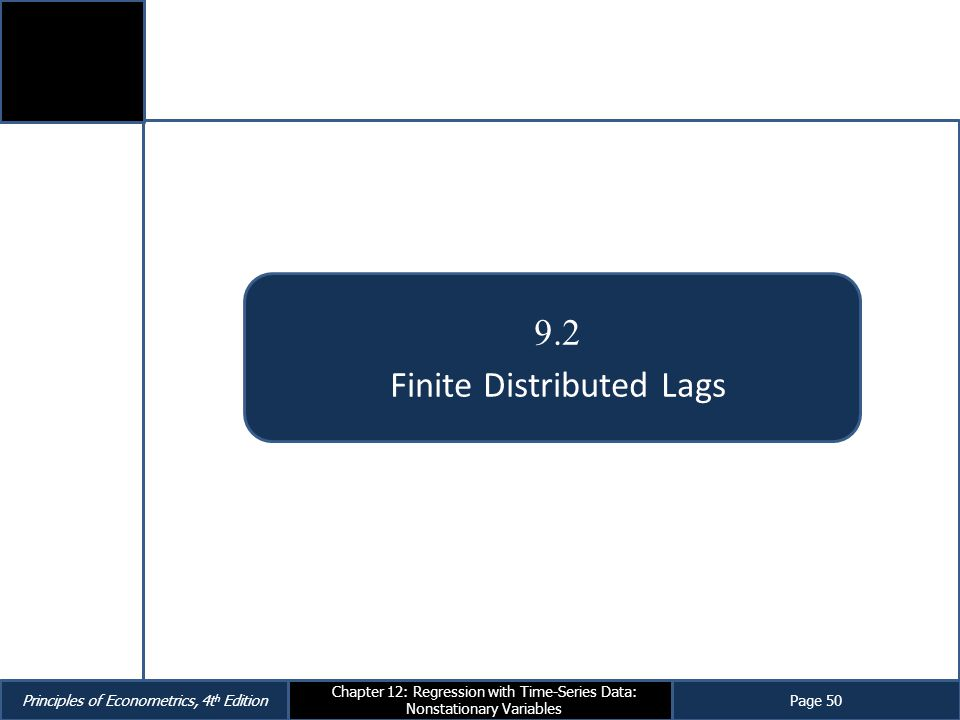 Finite Distributed Lags