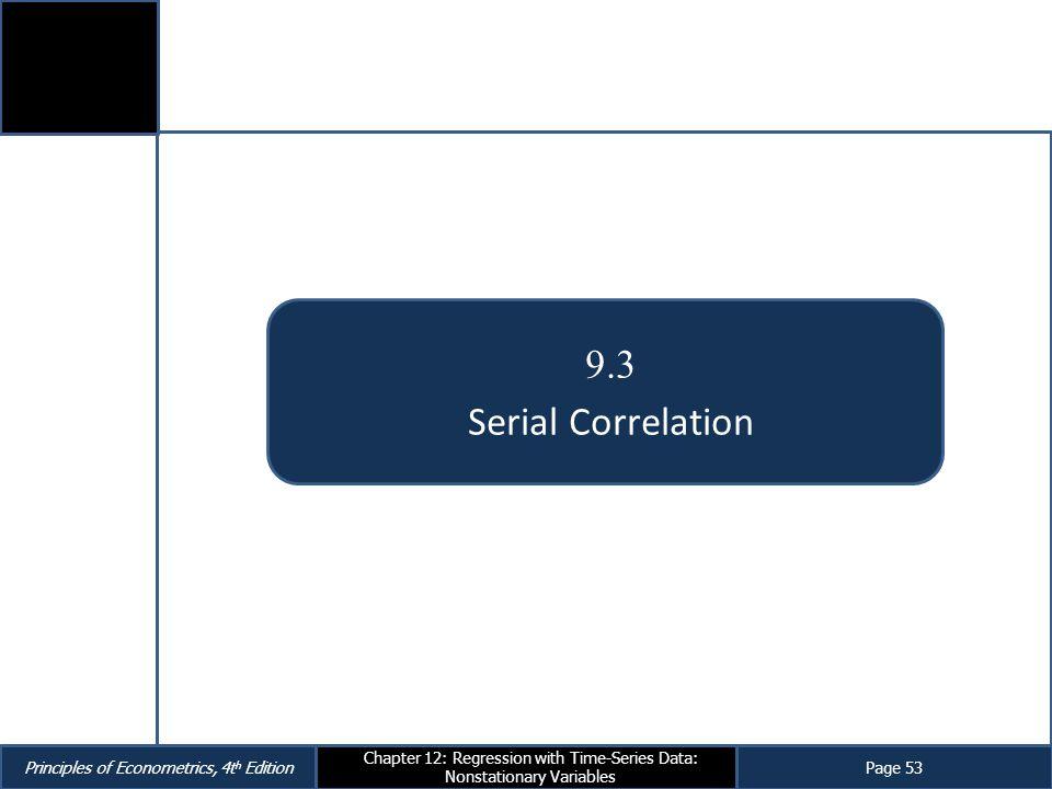 9.3 Serial Correlation