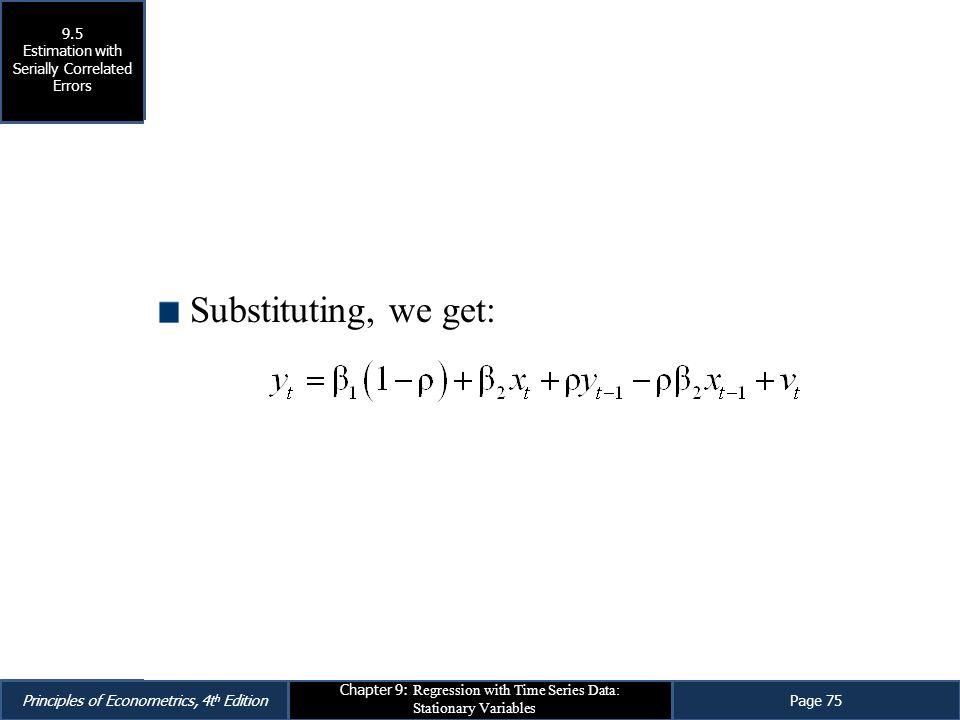 Substituting, we get: Eq. 9.43 9.5