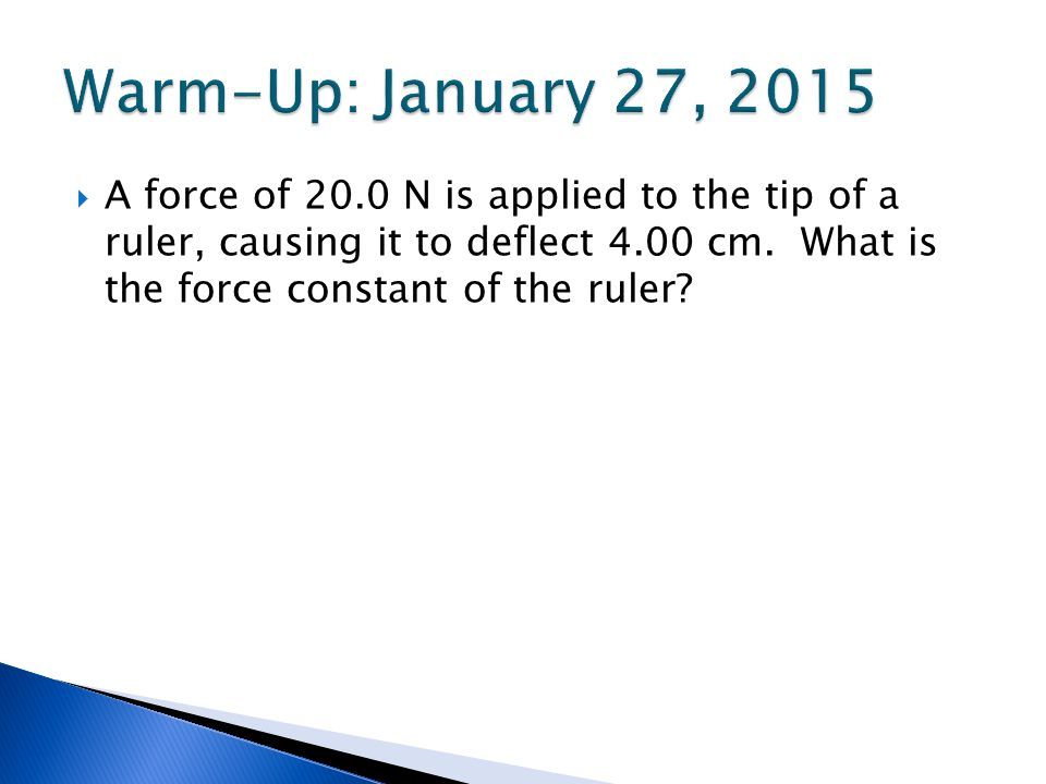Warm-Up: January 27, 2015