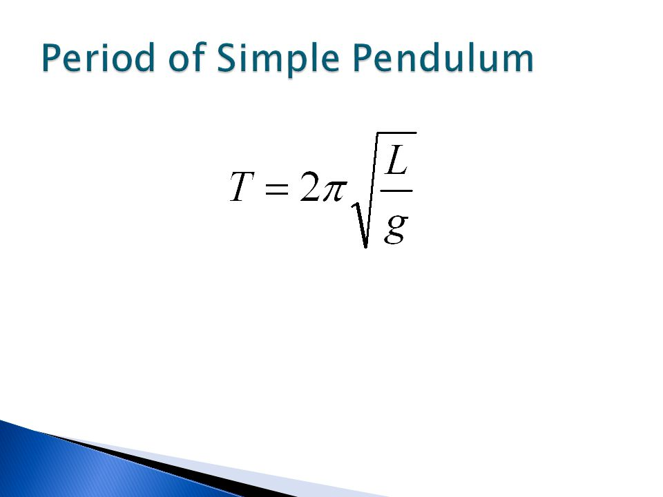 Period of Simple Pendulum