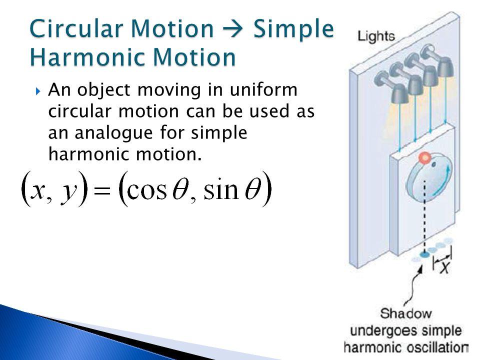 Circular Motion  Simple Harmonic Motion