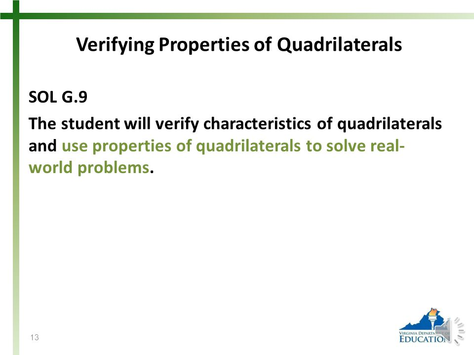 Verifying Properties of Quadrilaterals