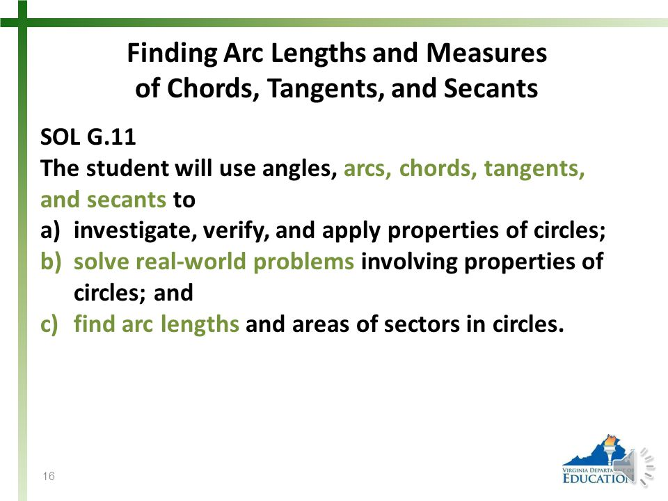 Finding Arc Lengths and Measures of Chords, Tangents, and Secants