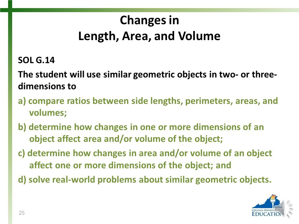 Changes in Length, Area, and Volume