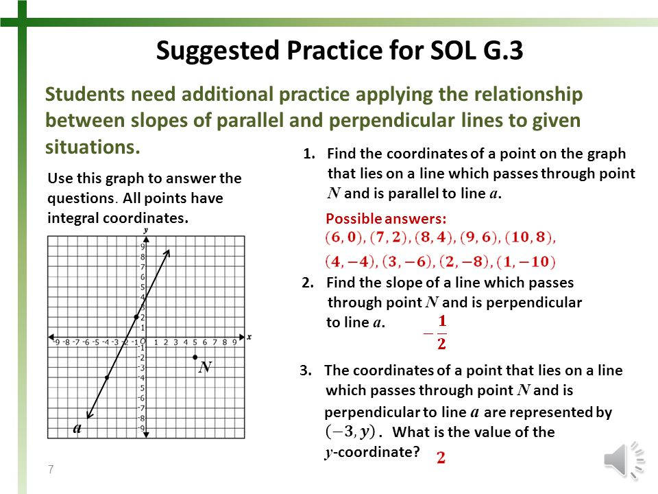 Suggested Practice for SOL G.3