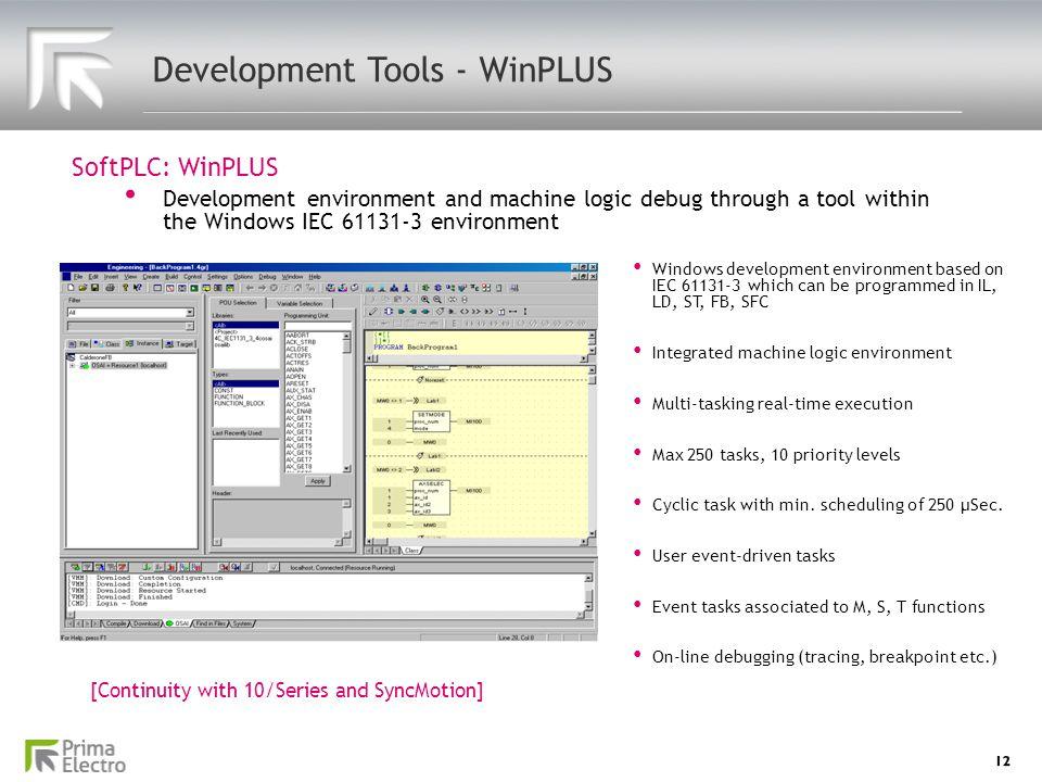 Development Tools - WinPLUS