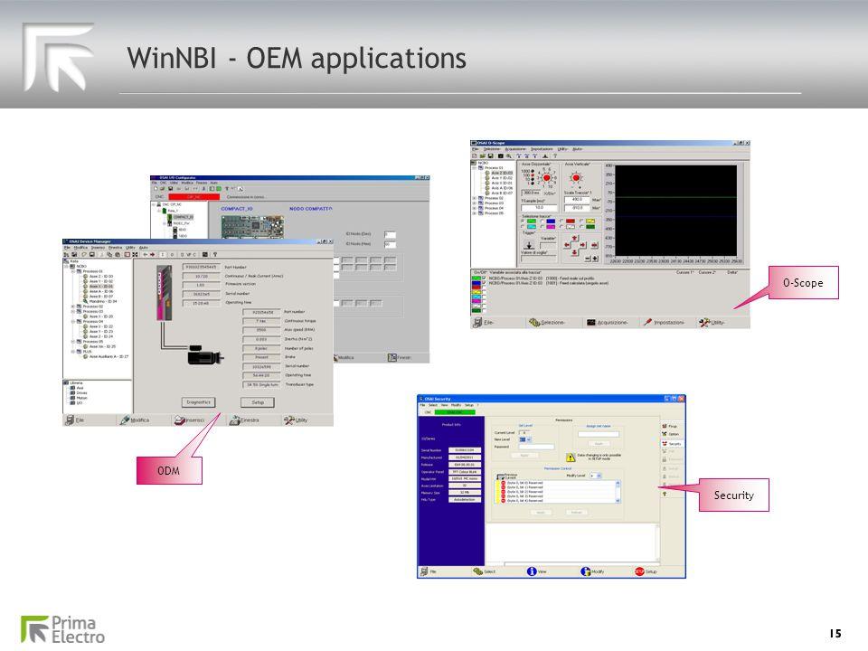 WinNBI - OEM applications