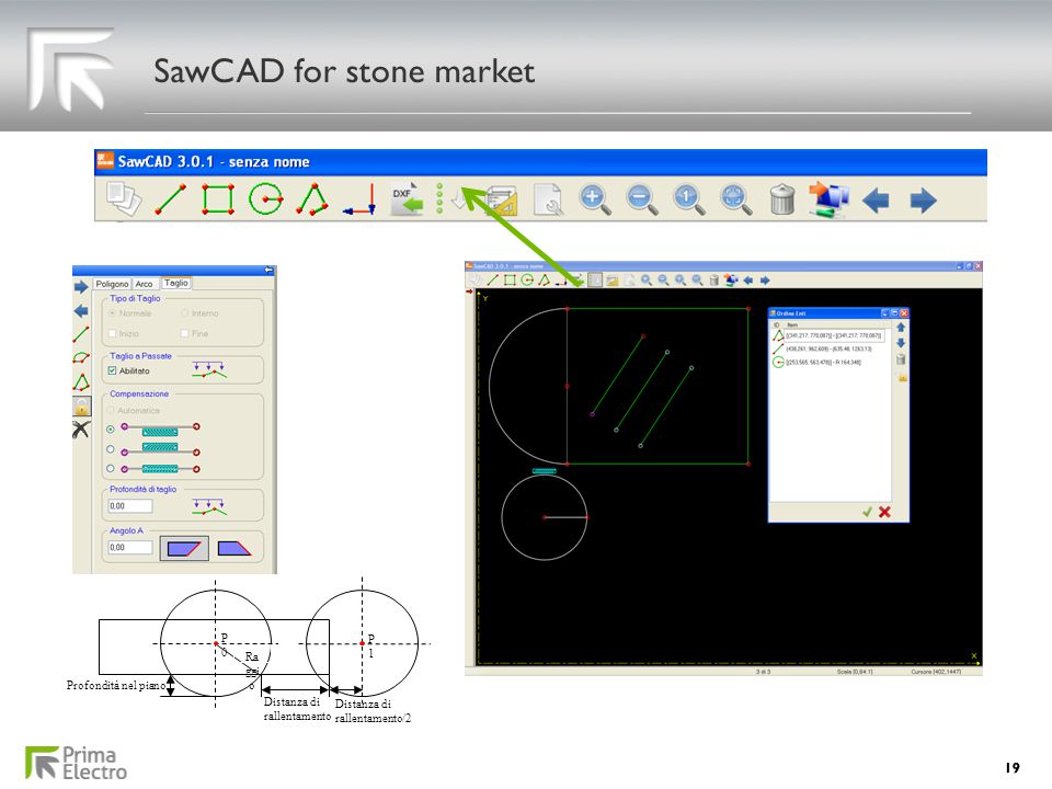 SawCAD for stone market