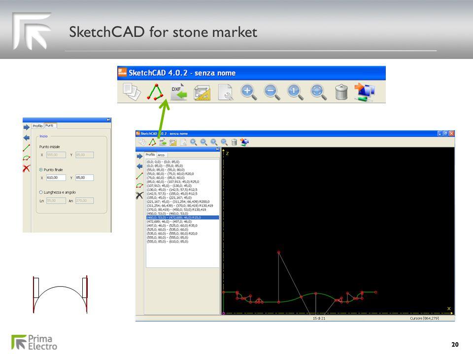 SketchCAD for stone market