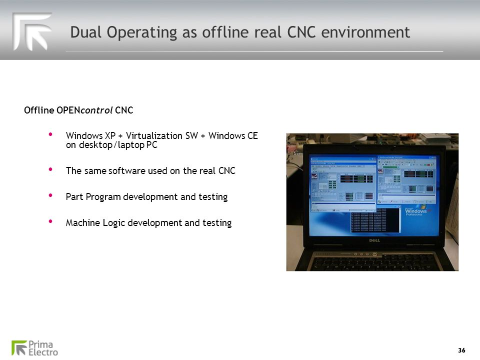 Dual Operating as offline real CNC environment