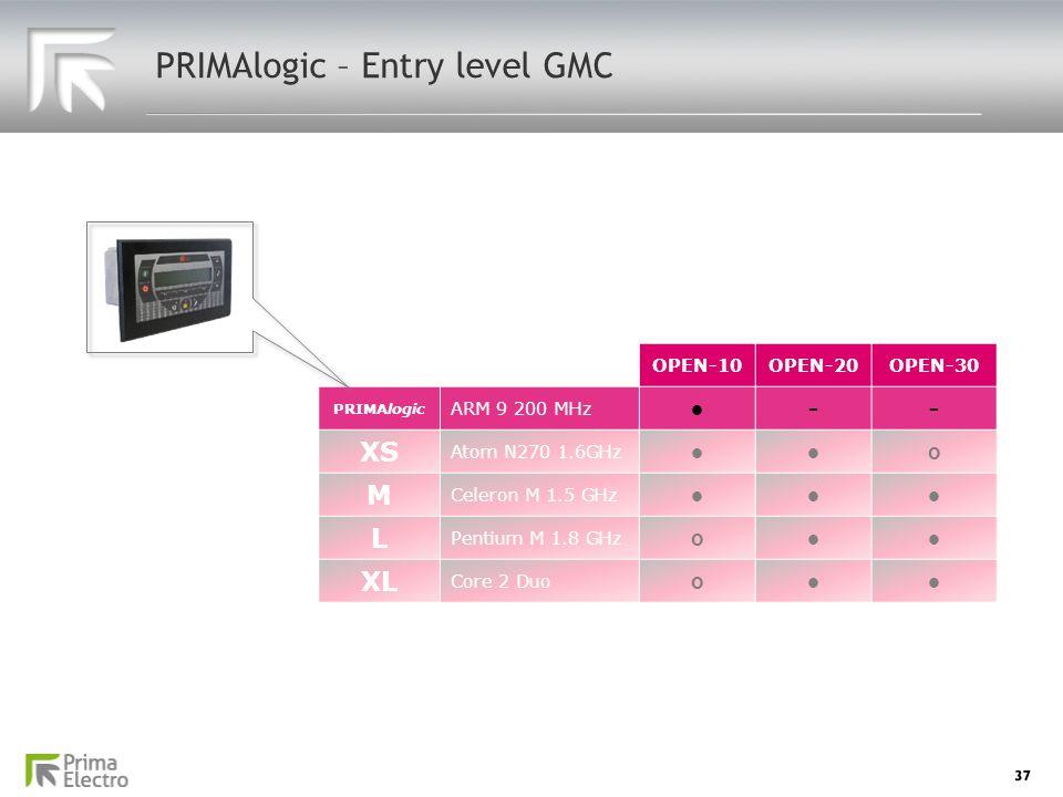 PRIMAlogic – Entry level GMC