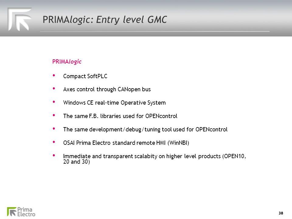 PRIMAlogic: Entry level GMC