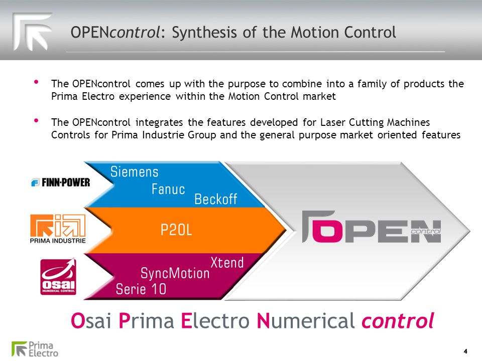 OPENcontrol: Synthesis of the Motion Control