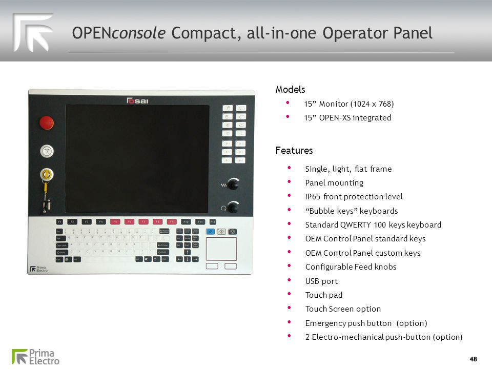 OPENconsole Compact, all-in-one Operator Panel