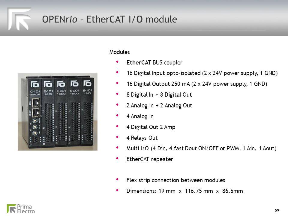 OPENrio – EtherCAT I/O module