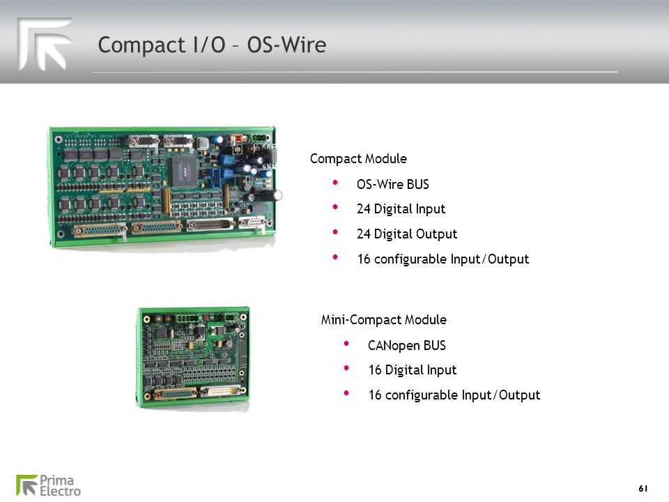 Compact I/O – OS-Wire Compact Module OS-Wire BUS 24 Digital Input