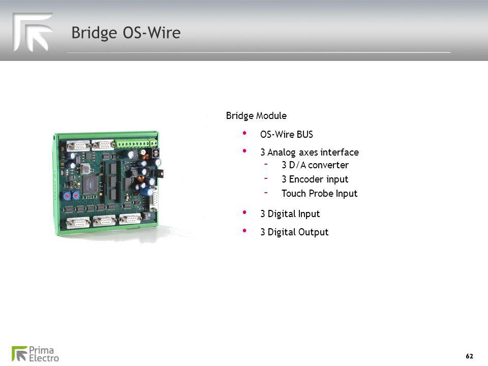 Bridge OS-Wire Bridge Module OS-Wire BUS 3 Analog axes interface