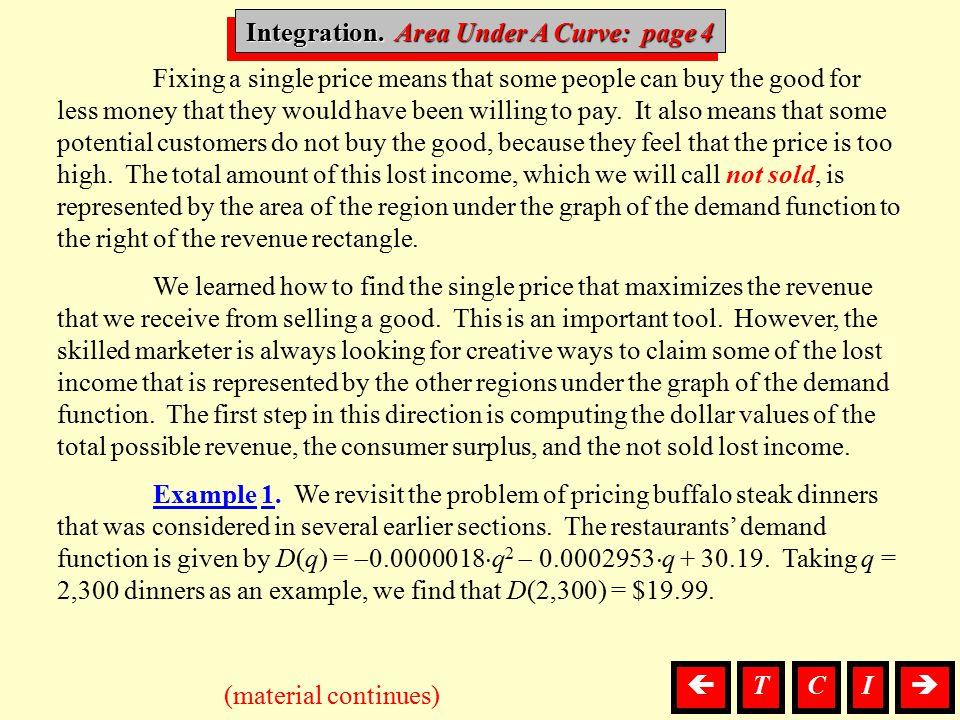 Integration. Area Under A Curve: page 4