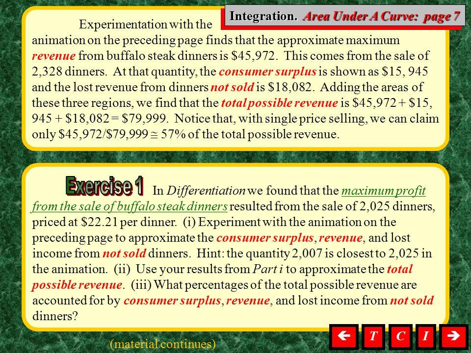 Integration. Area Under A Curve: page 7