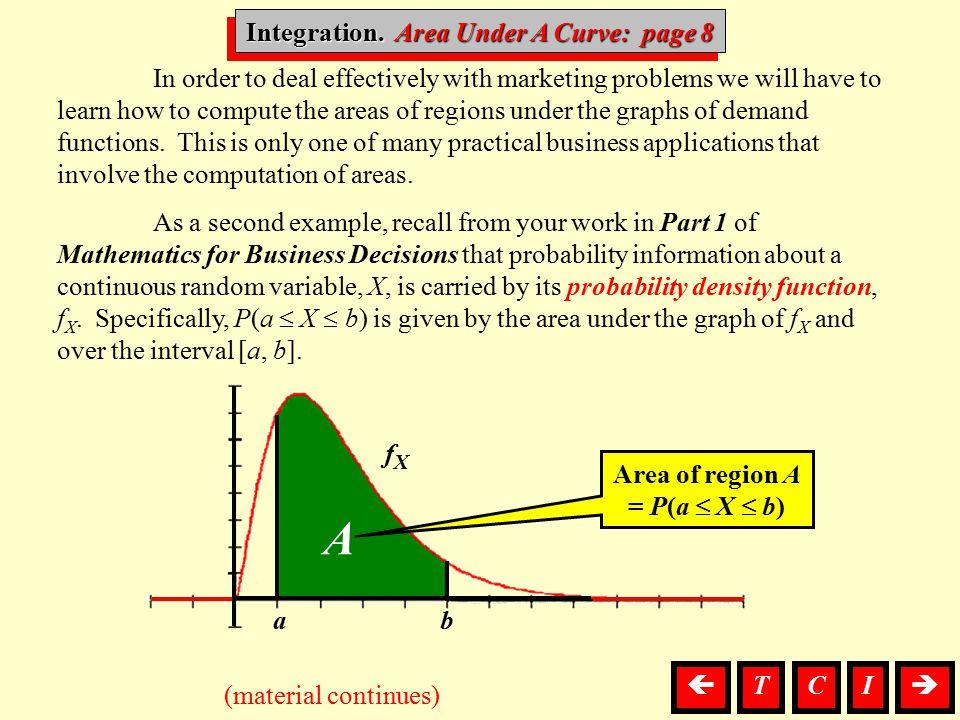 Integration. Area Under A Curve: page 8