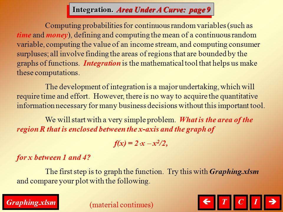Integration. Area Under A Curve: page 9