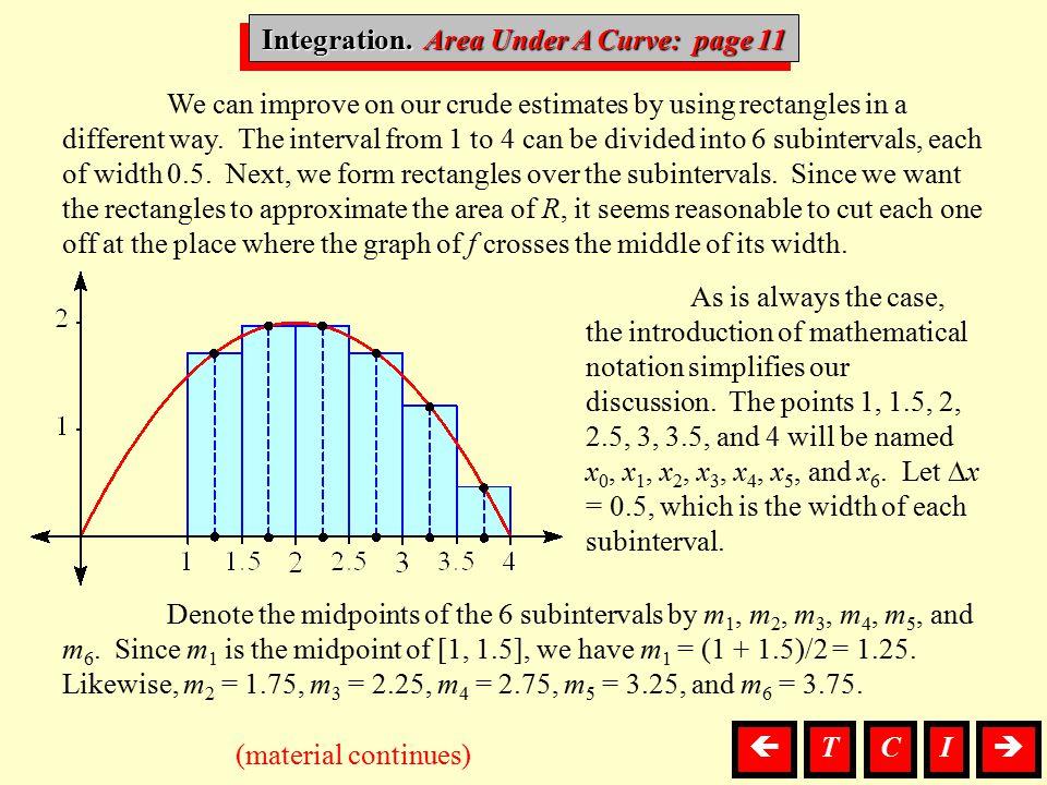Integration. Area Under A Curve: page 11