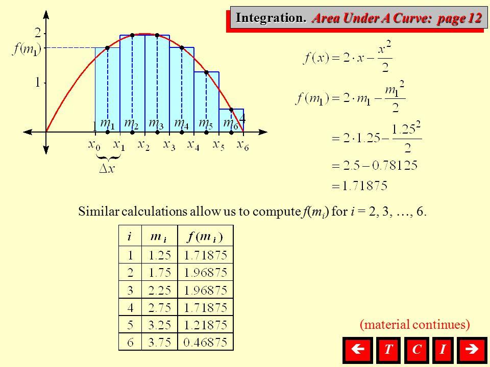 Integration. Area Under A Curve: page 12
