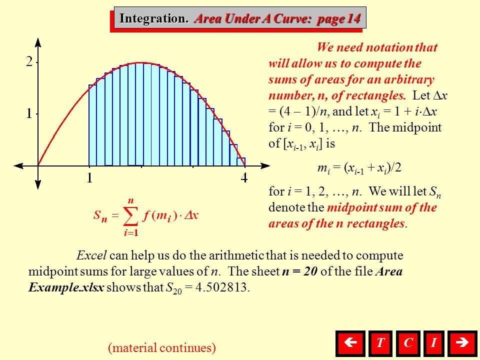 Integration. Area Under A Curve: page 14