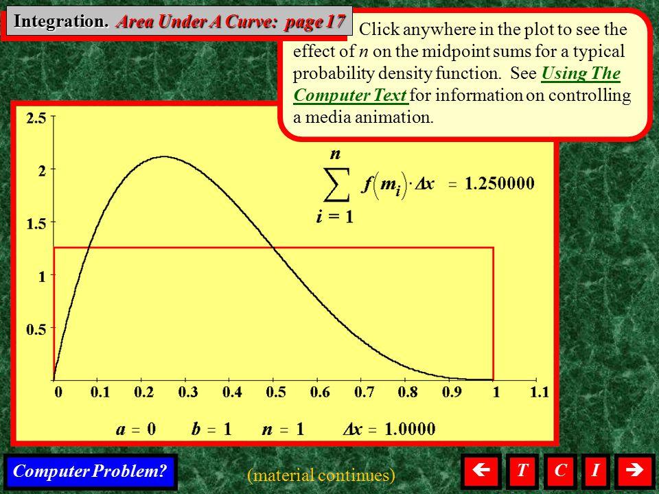 Integration. Area Under A Curve: page 17