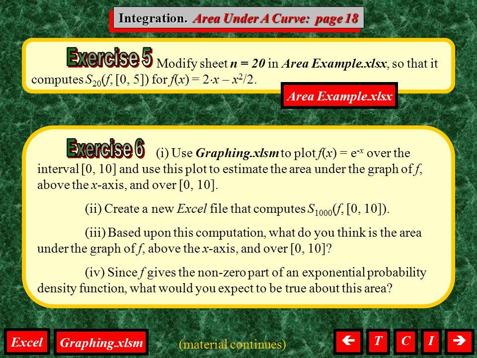Integration. Area Under A Curve: page 18