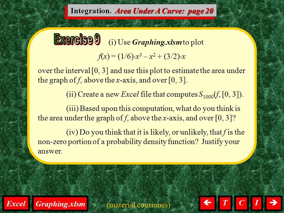Integration. Area Under A Curve: page 20