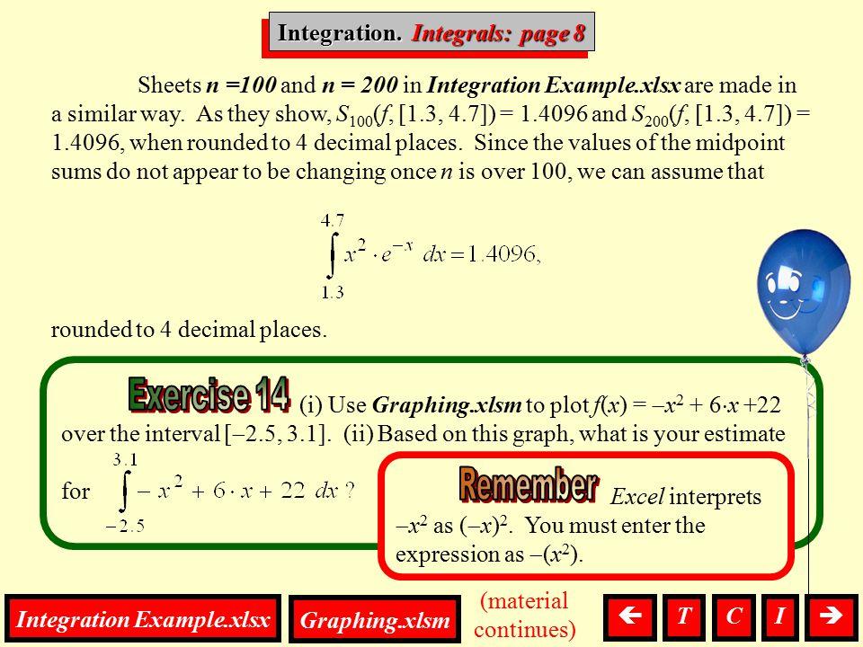 Integration, Integrals