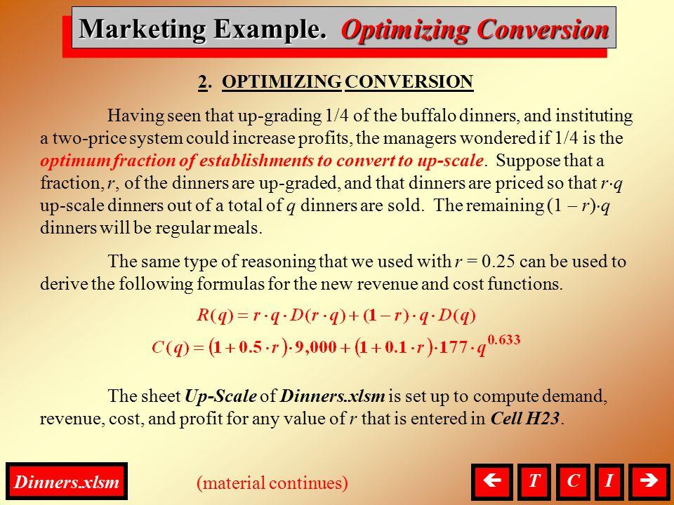 Marketing, Optimizing Conversion