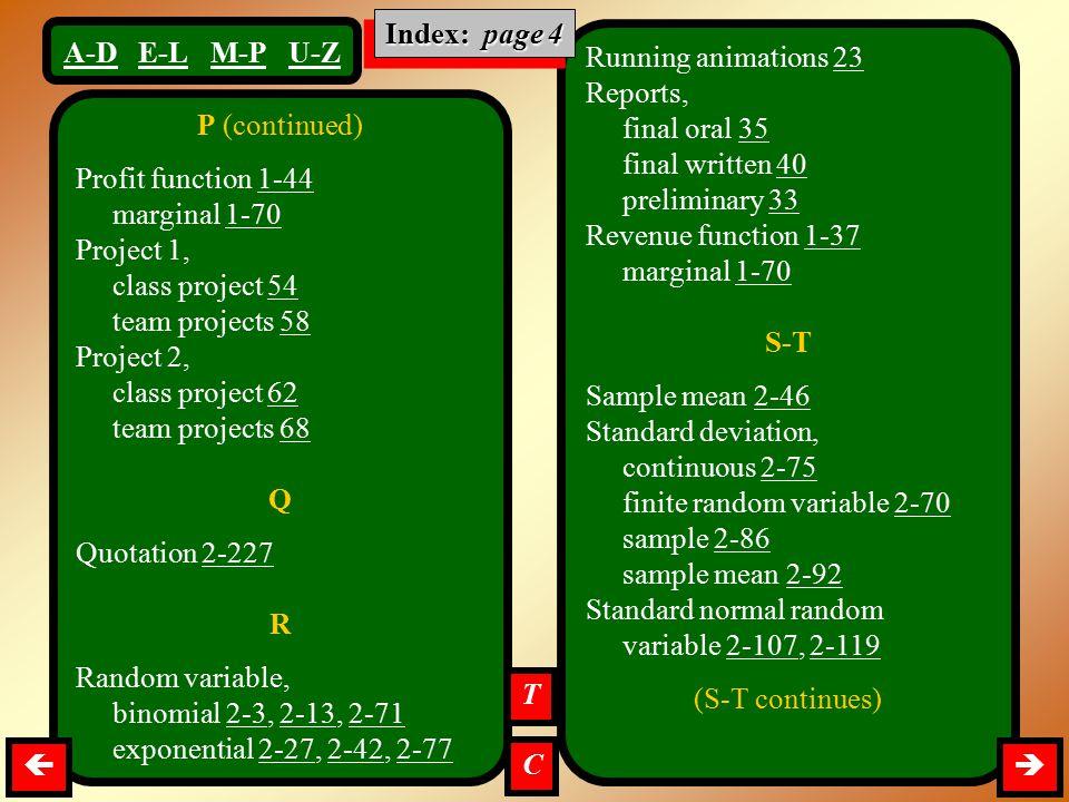 finite random variable 2-70 sample 2-86 sample mean 2-92
