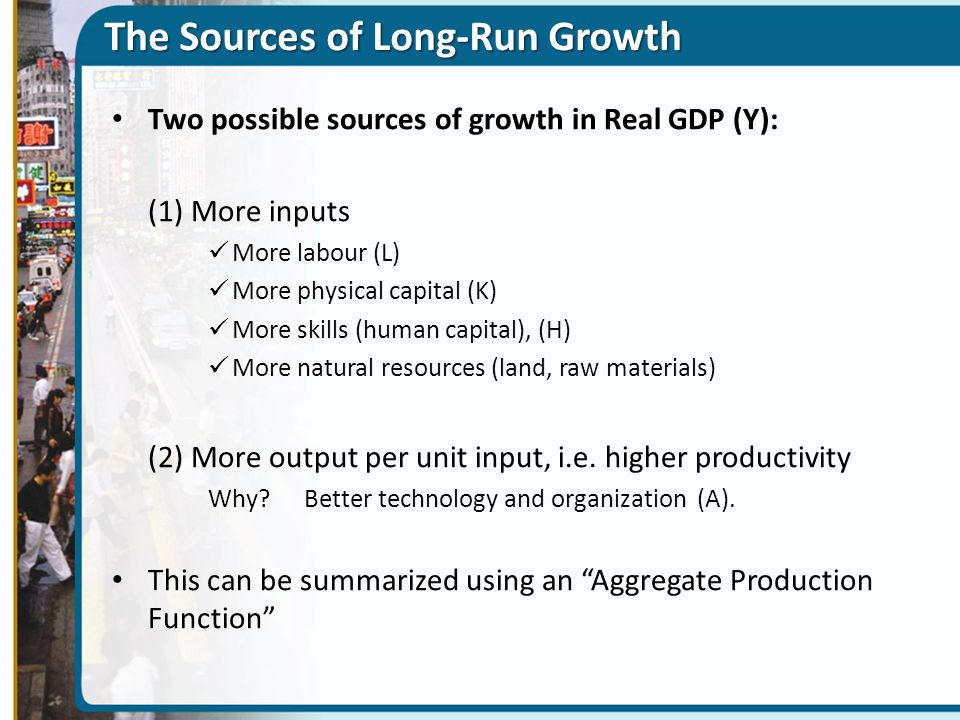The Sources of Long-Run Growth