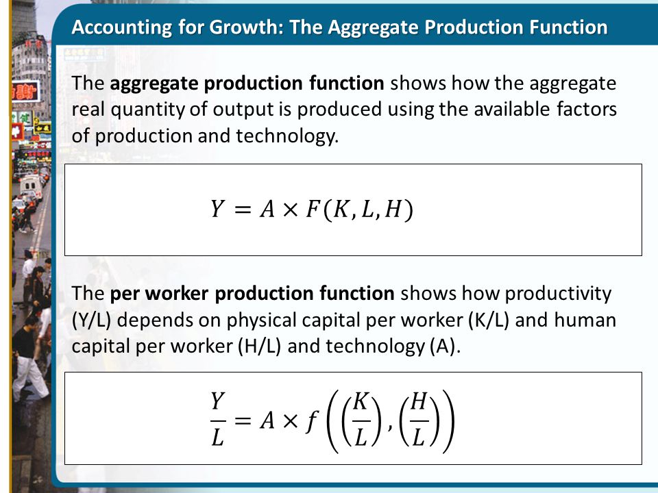 Accounting for Growth: The Aggregate Production Function