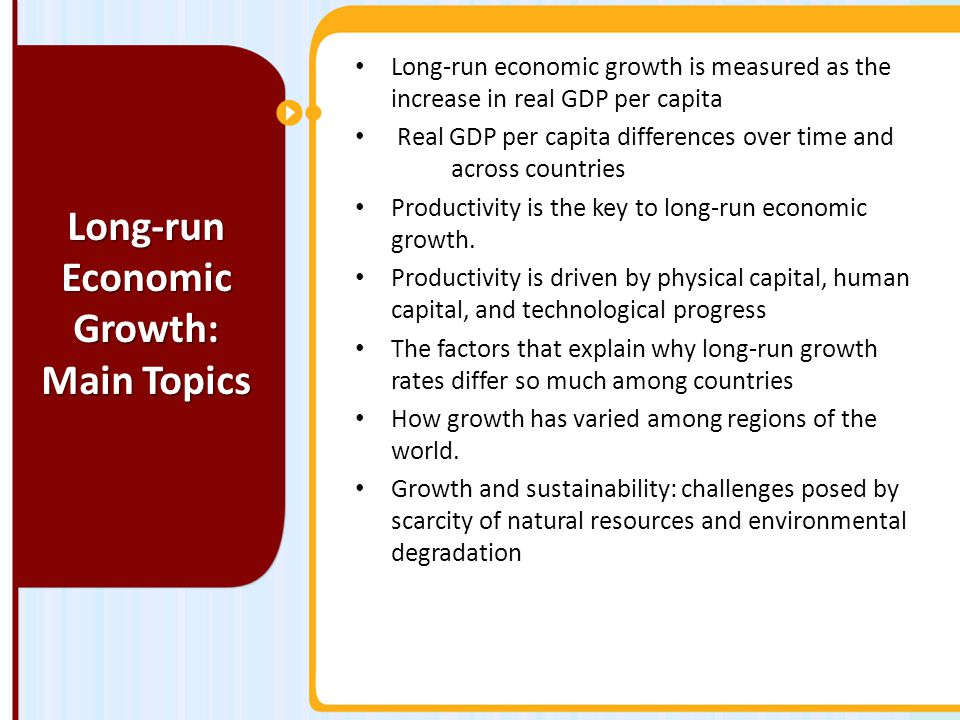 Long-run Economic Growth: Main Topics