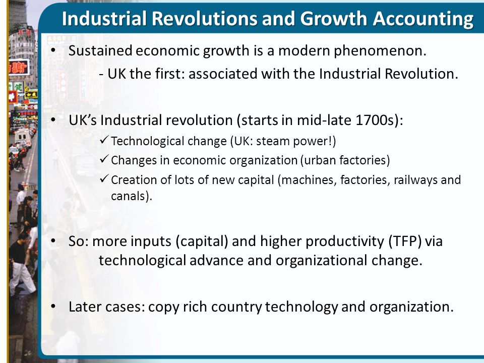 Industrial Revolutions and Growth Accounting