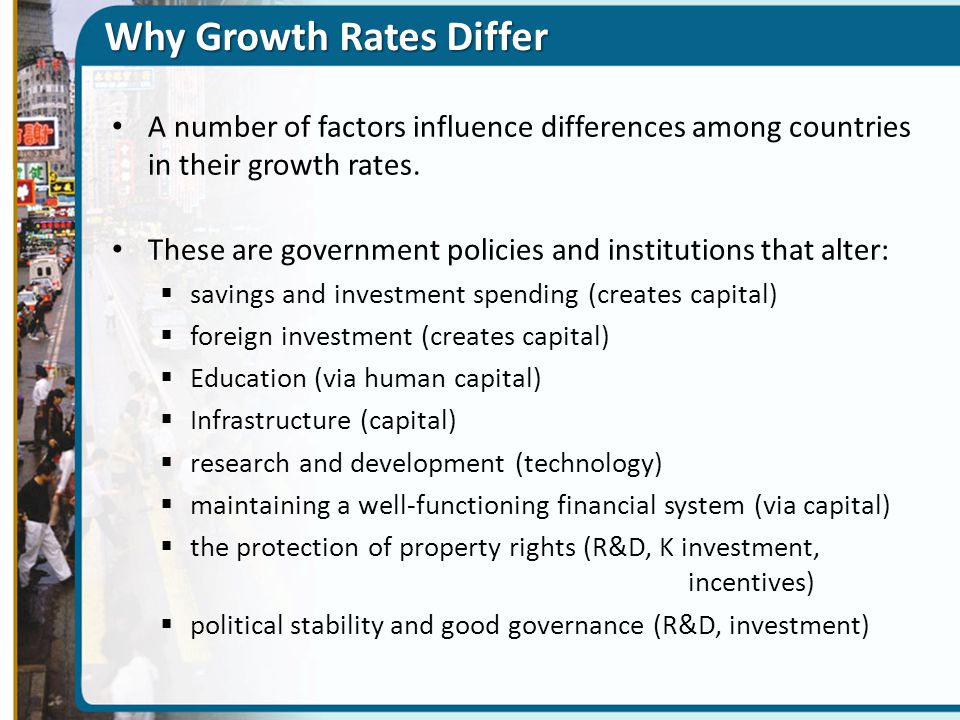 Why Growth Rates Differ