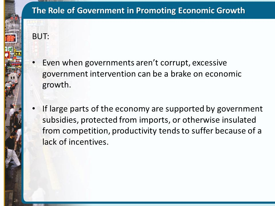 The Role of Government in Promoting Economic Growth