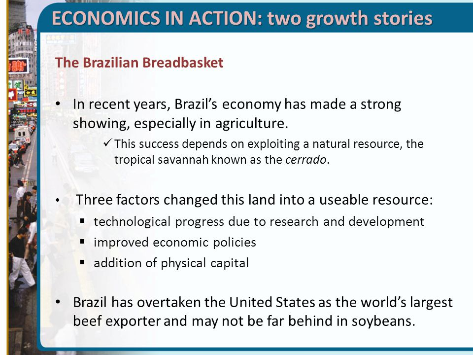 ECONOMICS IN ACTION: two growth stories